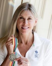 Sharron Davies with medal