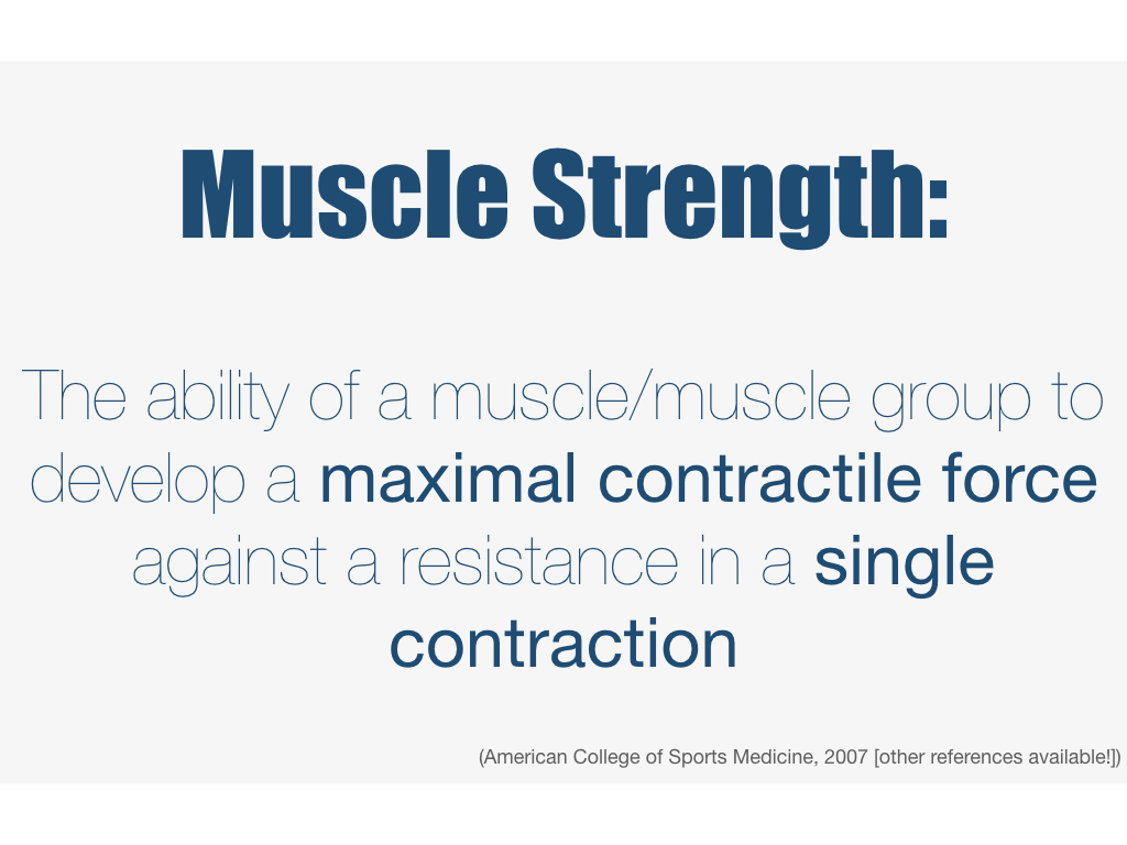 definition of muscle strength