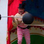 Man lifting big dumbbell