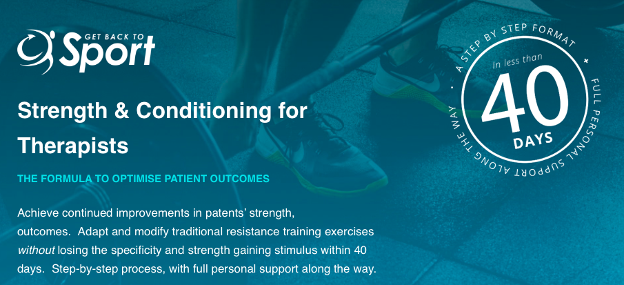 strength and conditioning for therapists