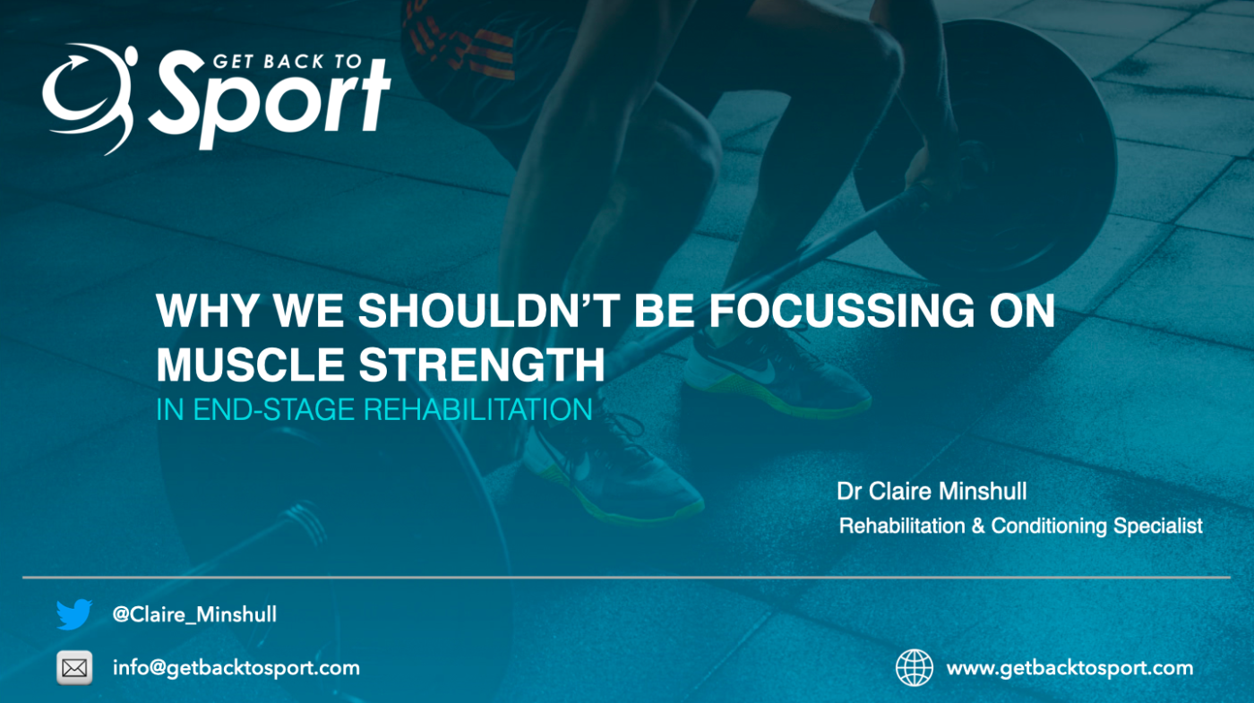 when to focus on strength in rehab
