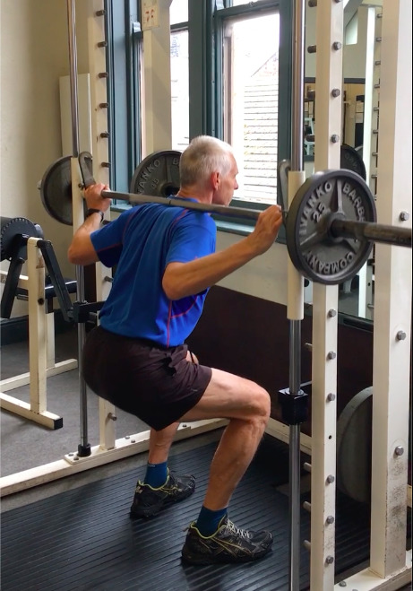 Compound squatting exercise