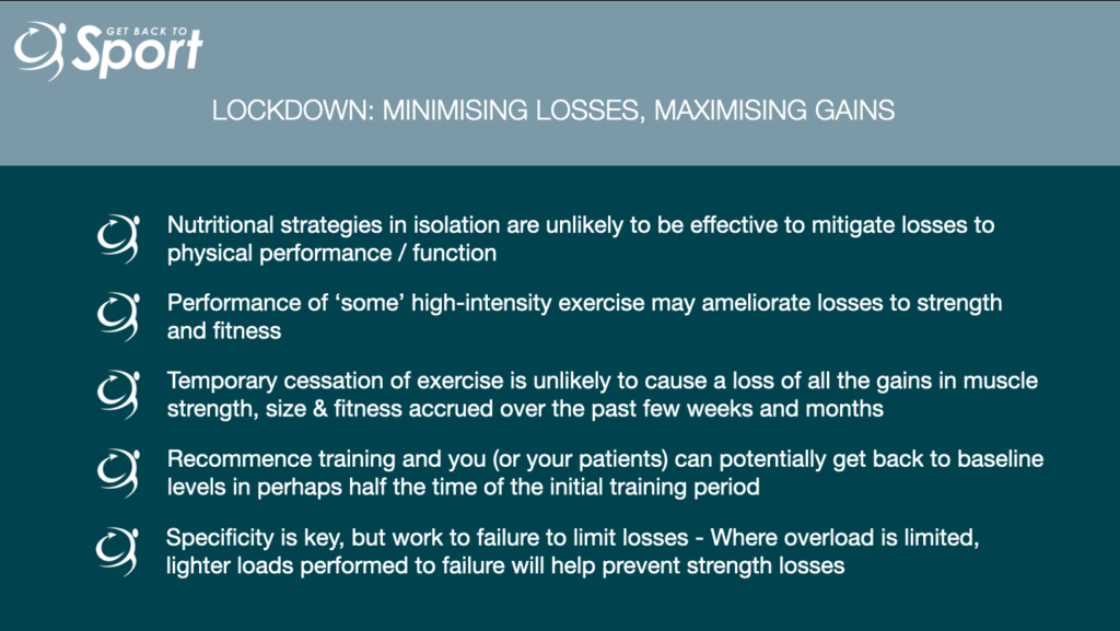 Minimising losses & Maximising gains in lockdown